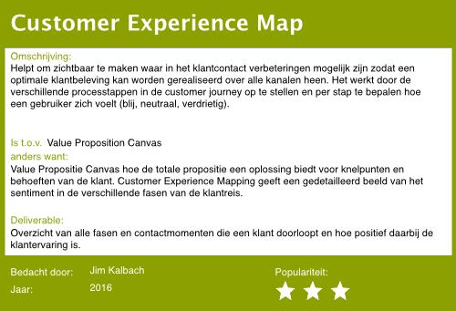 10 customer experience map