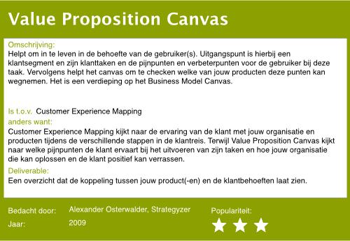 12 value proposition canvas