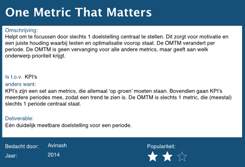 27 one metric that matters